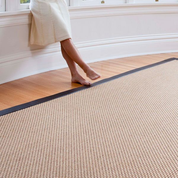 Synthetic Sisal Style Name Oxford Color Nutmeg With Faux Leather Finish Sisalcarpet 7 Sq Ft