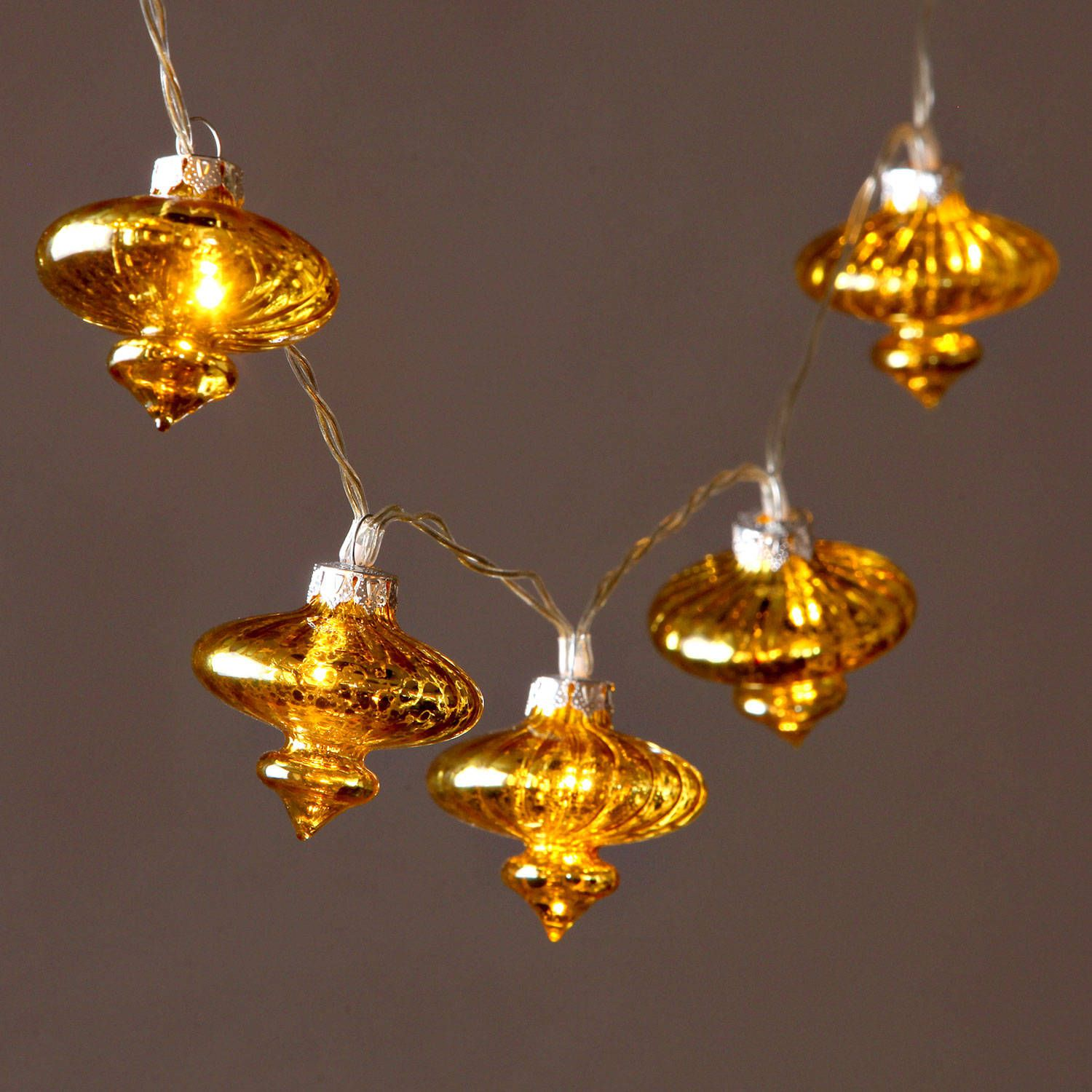 decorative string lighting. Unique String Strand Of 24 Warm White LED Gold Mercury Mini Glass Lantern Battery String  Lights Throughout Decorative Lighting L