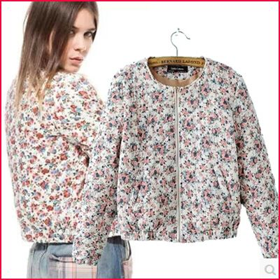 New Fashion Winter jacket Women's Short Slim With Chiffon Coat ...