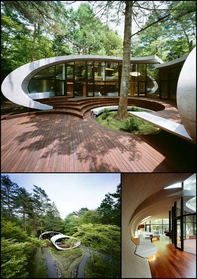 Futuristic Home Design With Natural Environment // Japan