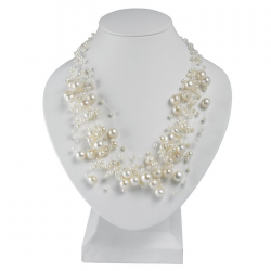 $120.00 Clusters of Pearls Adorn the Awesome Necklace Perfect for Weddings and Proms or everyday www.secretgardengems.net