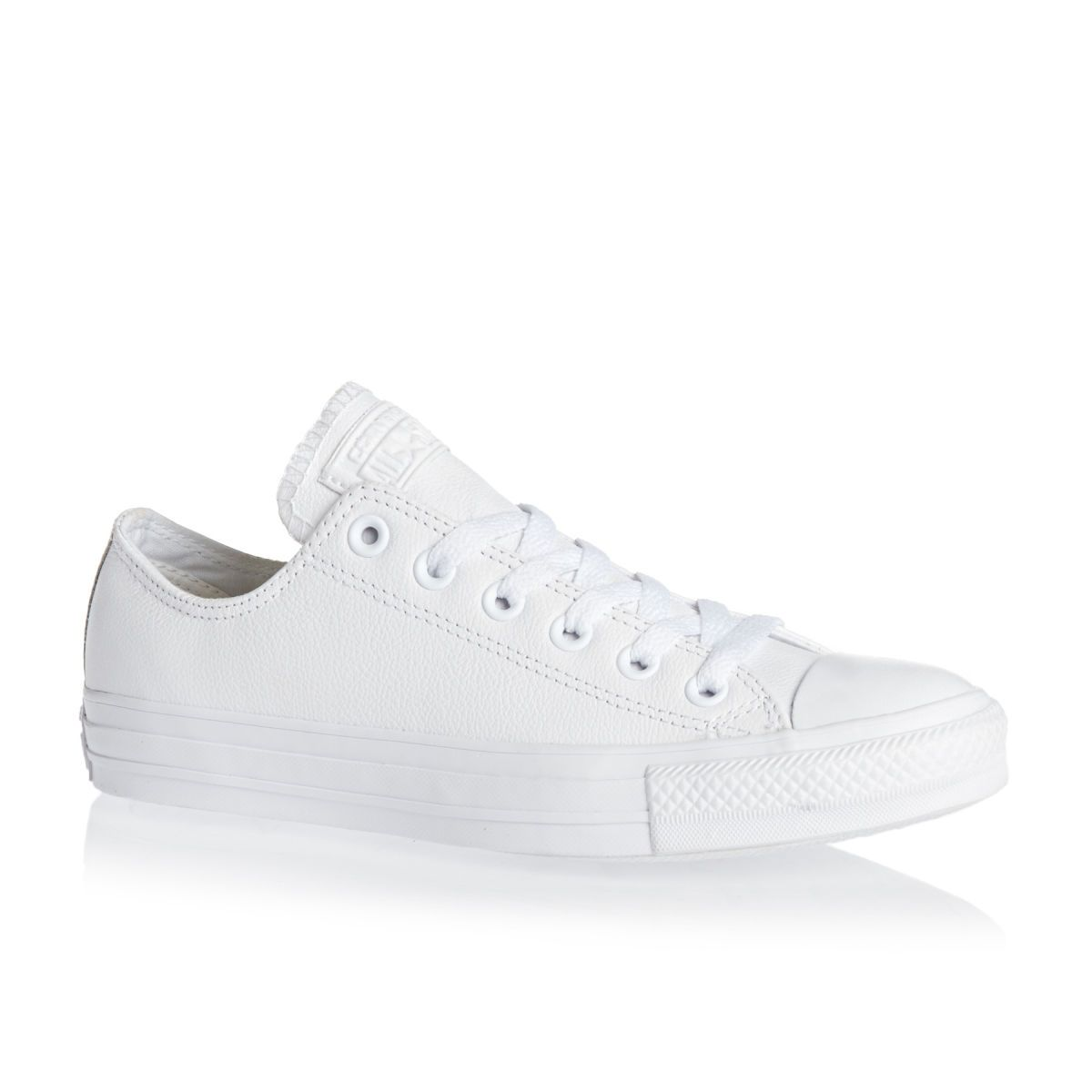 7ea91f2438dc CHUCK TAYLOR ALL WHITE LEATHER ALL-STAR OXFORDS (WOMEN). Converse ...