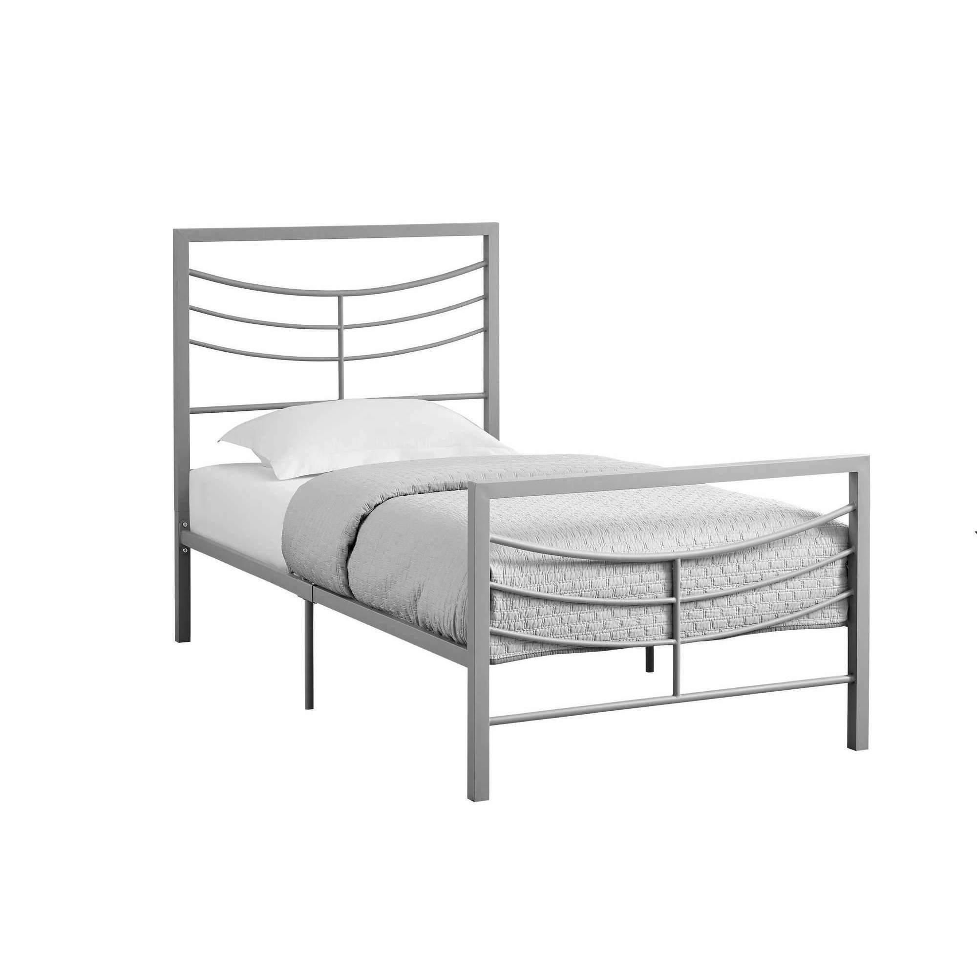 Bed Twin Size Silver Metal Frame Only Twin Bed Frame Twin Size Metal Bed Frame Bed Frame
