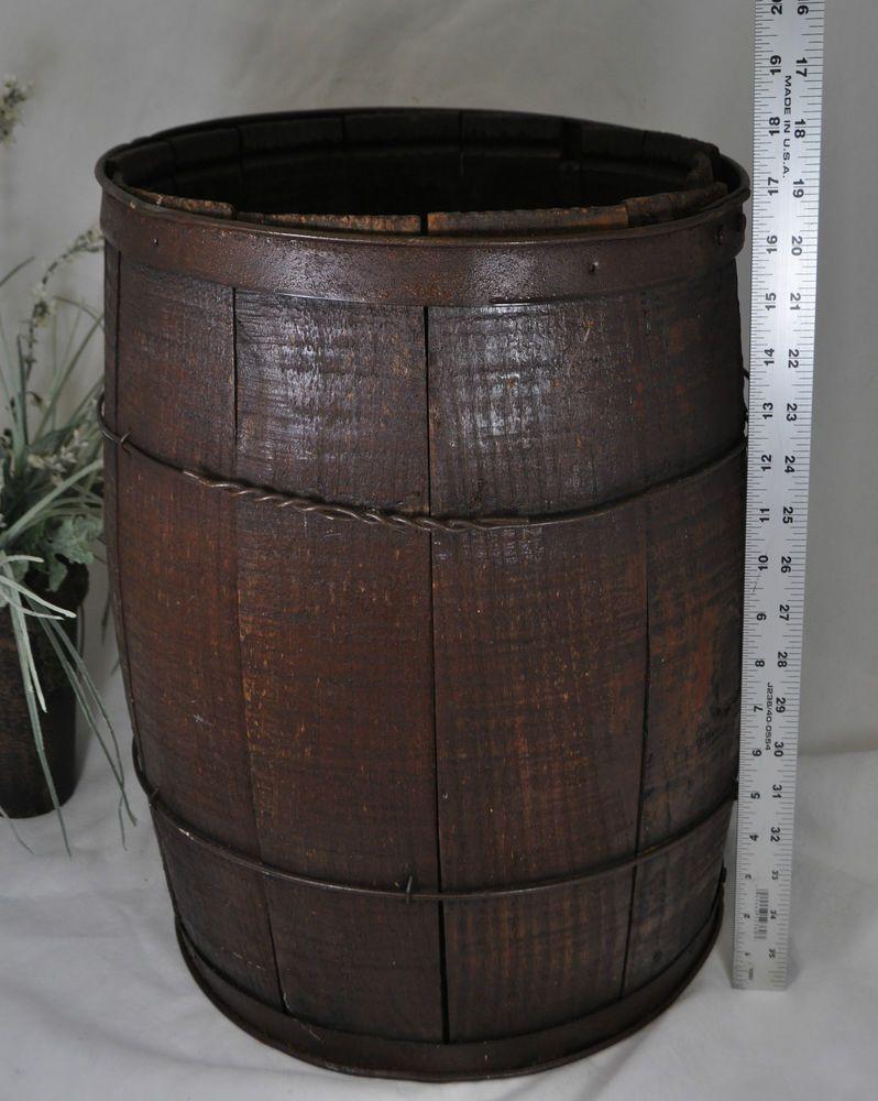 Antique Wood Nail Keg~Old Vintage Wooden Barrel~Rustic Farm / Cowboy ...