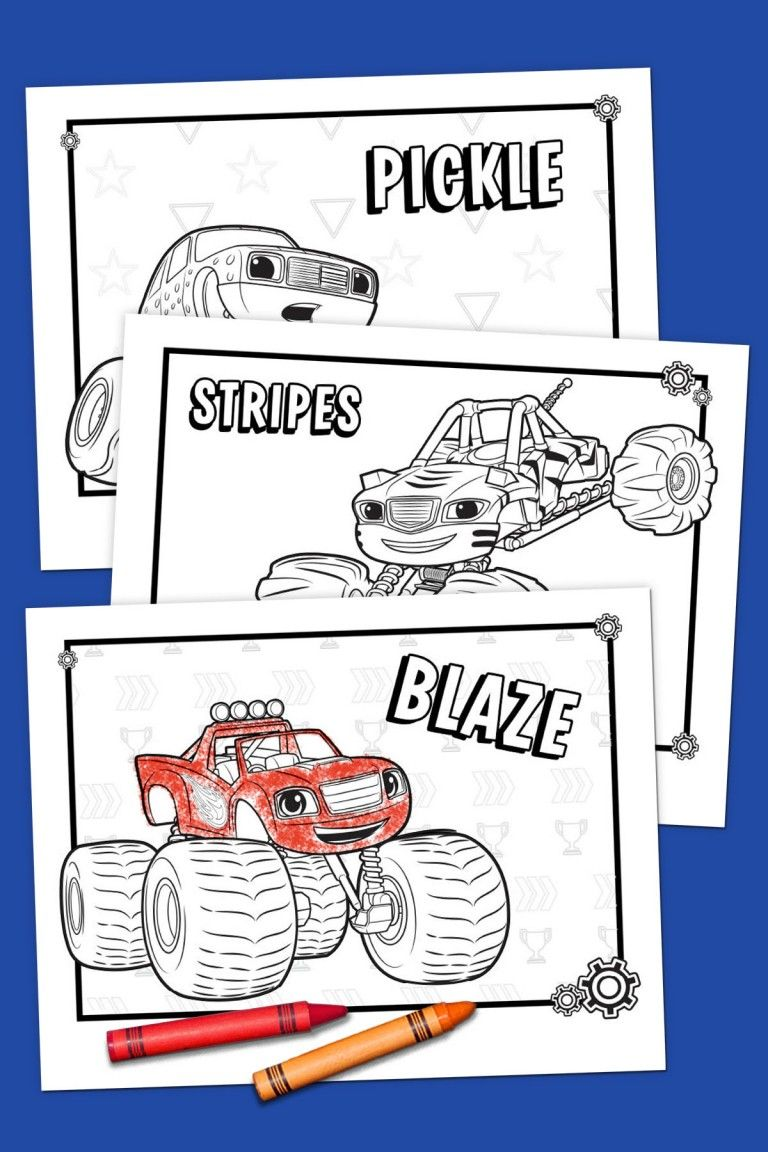 Blaze Coloring Pack Blaze And The Monster Machines Party Blaze Birthday Party Blaze The Monster Machine