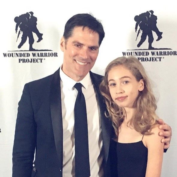 Tom with daughter, Agatha in NYC supporting Wounded ...