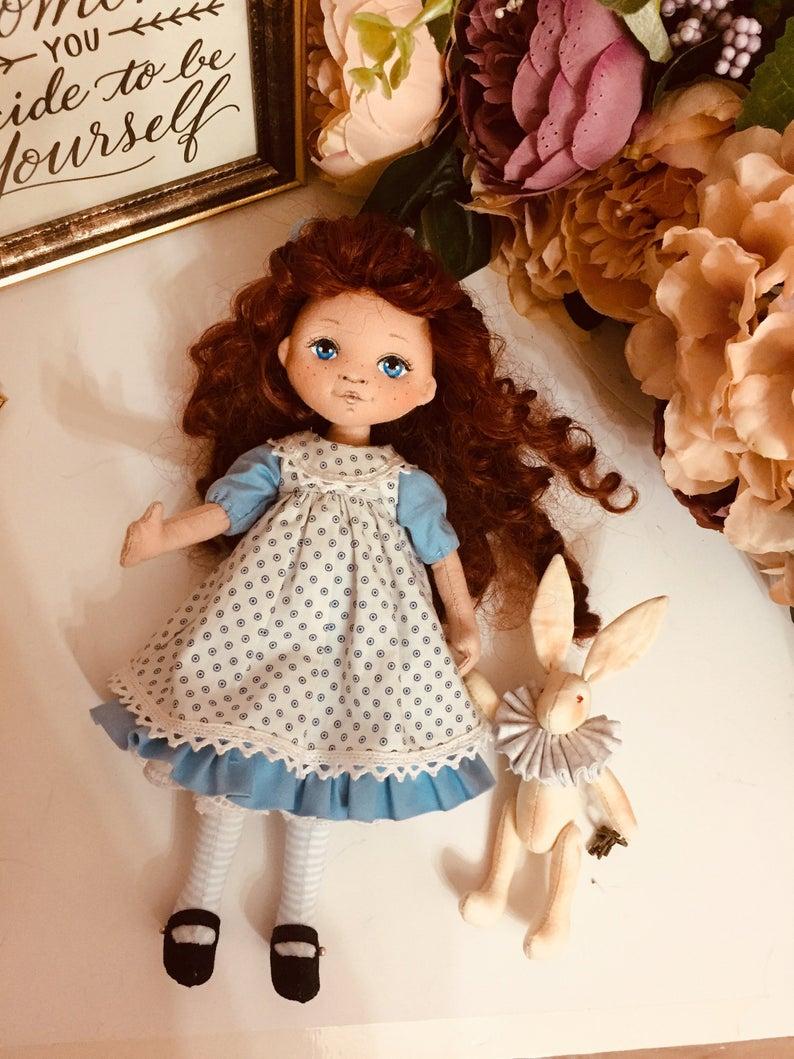 PDF Doll Sewing Pattern / Little doll Alice &Rabbi