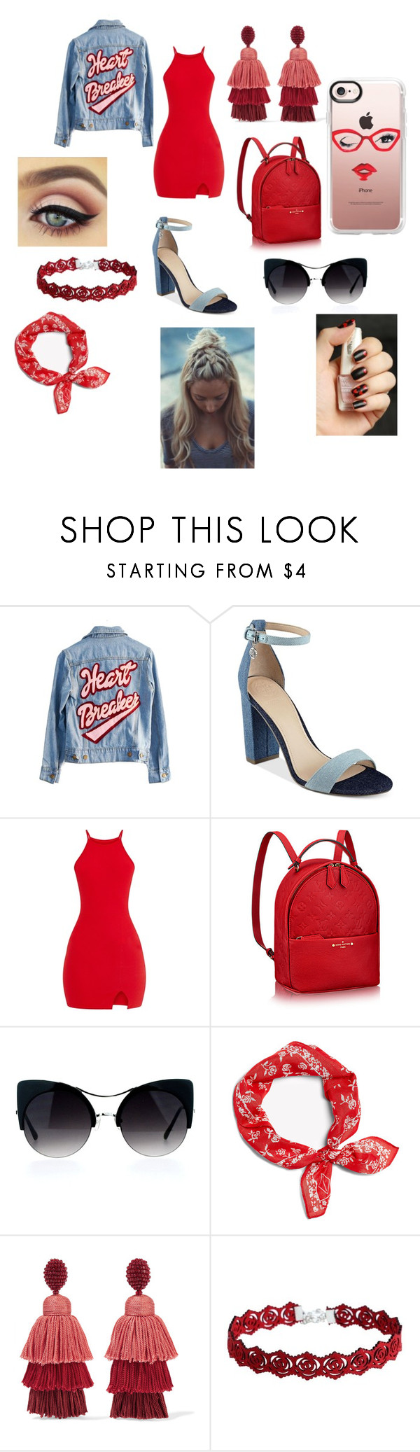 """""""Watch your HEART"""" by taco-lambert ❤ liked on Polyvore featuring High Heels Suicide, GUESS, rag & bone, Oscar de la Renta and Casetify"""