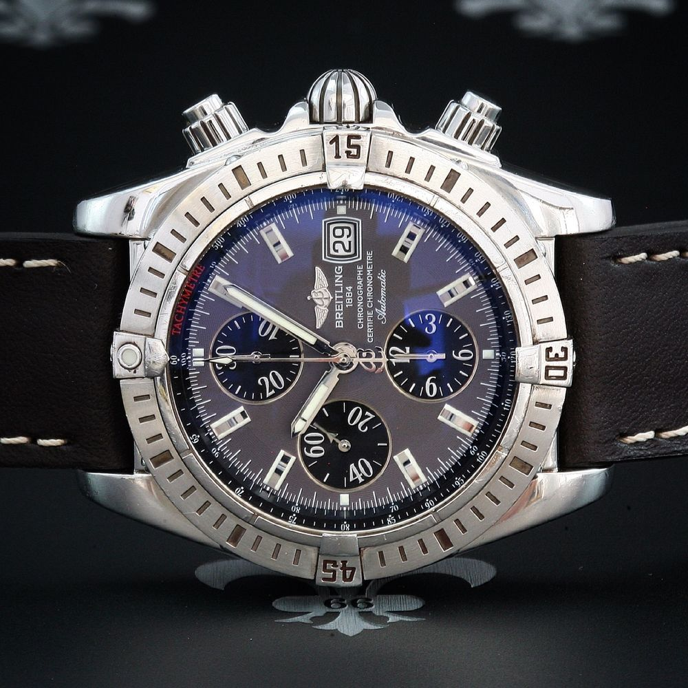ordre avant-garde de l'époque mode BREITLING Swiss Chronomat Evolution Automatic Aviator Date ...