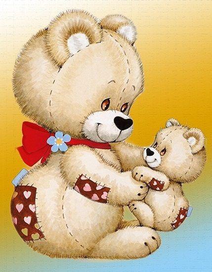 3 Teddy <3 A Mother\'s Love. | день матери | Pinterest | Niedlich ...