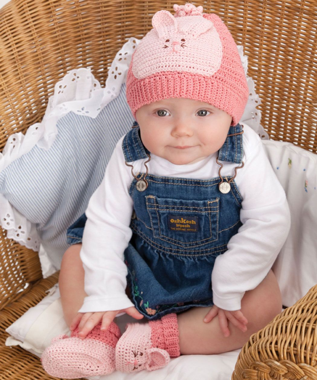 So sweet bunny hat and booties crochet free pattern | Hats ...