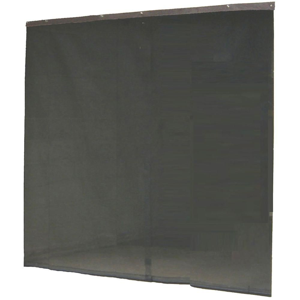 Instant Screen 120 In X 96 In Black Garage Screen Door With Hardware And Roll Up Accessory Ds83939 Garage Screen Door Screen Door Instant Screen
