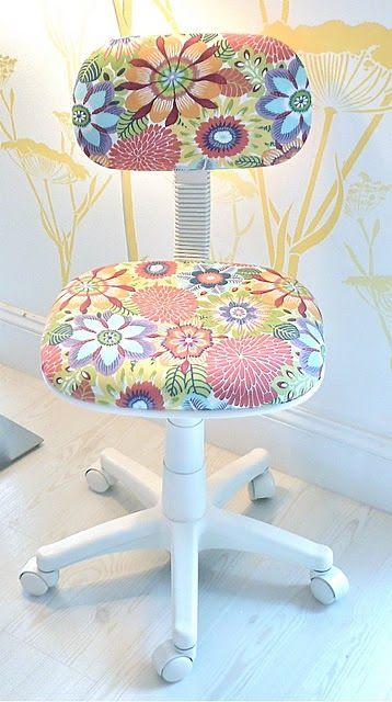 Renovar una silla de oficina | Muebles | Pinterest | Office decor ...