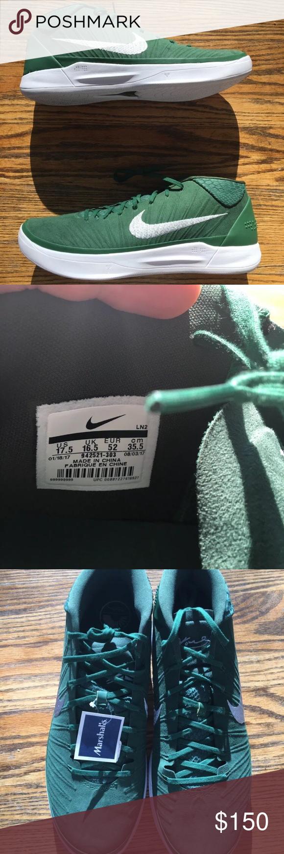 a1937877a51 Nike Kobe AD TB Promo Mens Basketball Shoes 942521 New Without Box Nike Kobe  AD TB Promo Mens Basketball Shoes 942521-303 Gorge Green Silver Size 17.5  Nike ...