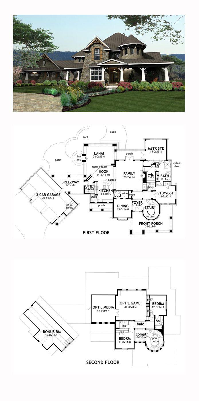 European House Plan 65872 Total Living