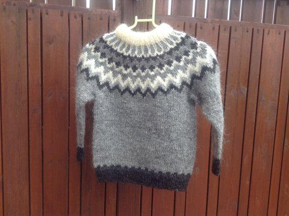 RESERVED FOR Lisa, custom order. Icelandic sweater for 6 year old