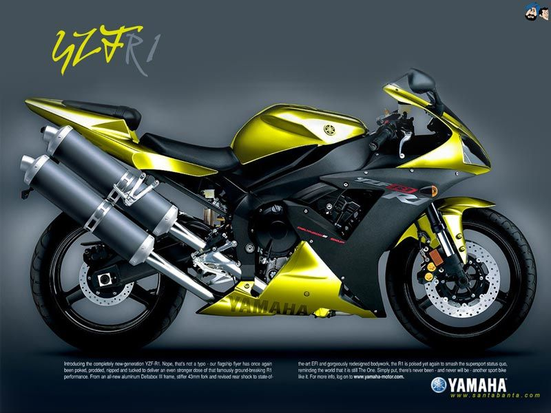 Yamaha R1 Not Sure If I Liek The Yellow Or White Yamaha