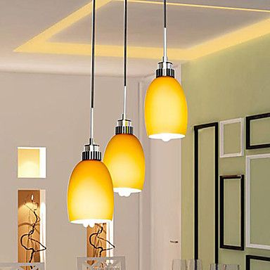 Stylish pendant lights with 3 lights in yellow lighting 15199 stylish pendant lights with 3 lights in yellow aloadofball Image collections