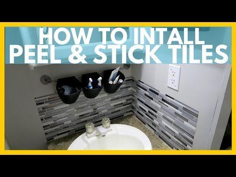 How To Install Peel And Stick Tiles Mt Vernon Washington S3e1 Youtube Smart Tiles Backsplash Bathroom Mirror Makeover Stick On Tiles