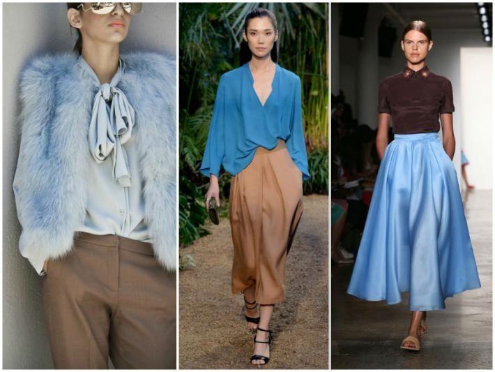 Серо-голубой цвет с чем сочетается в одежде