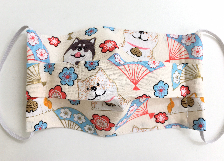Shiba Inu With Japanese Fan Cream/ Organic Cloth Surgical