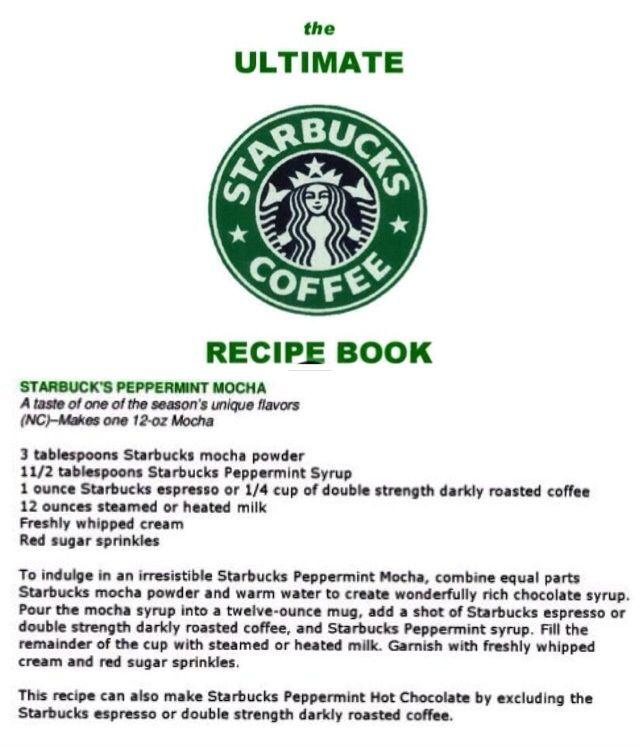 Coffee Ingredients, Starbucks