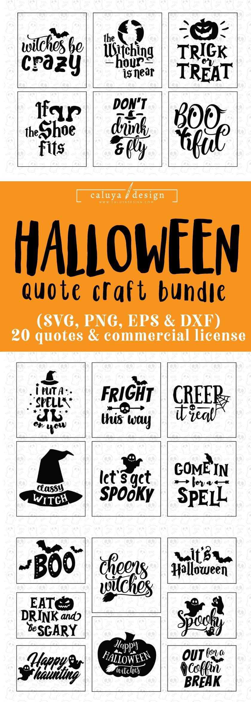 Halloween Quotes Svg.Halloween Quote Svg Cut File Bundle Deal Cut File For