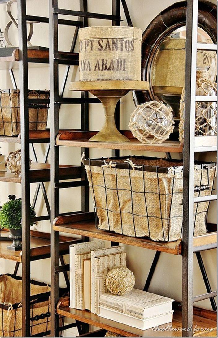 Industrial Shelves DIY Farmhouse Styled Living Room Decor Ideas By Thistlewood Farm