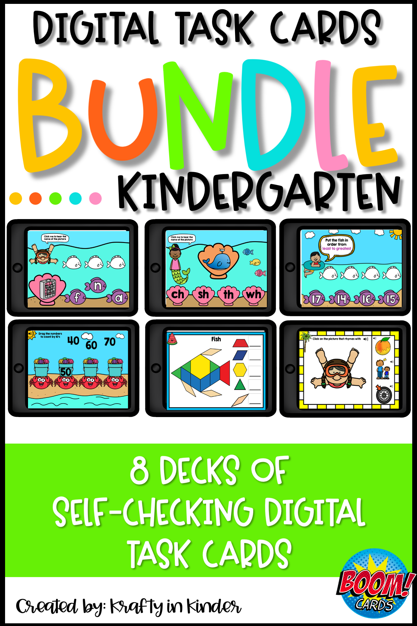 Kindergarten Boom Cards In
