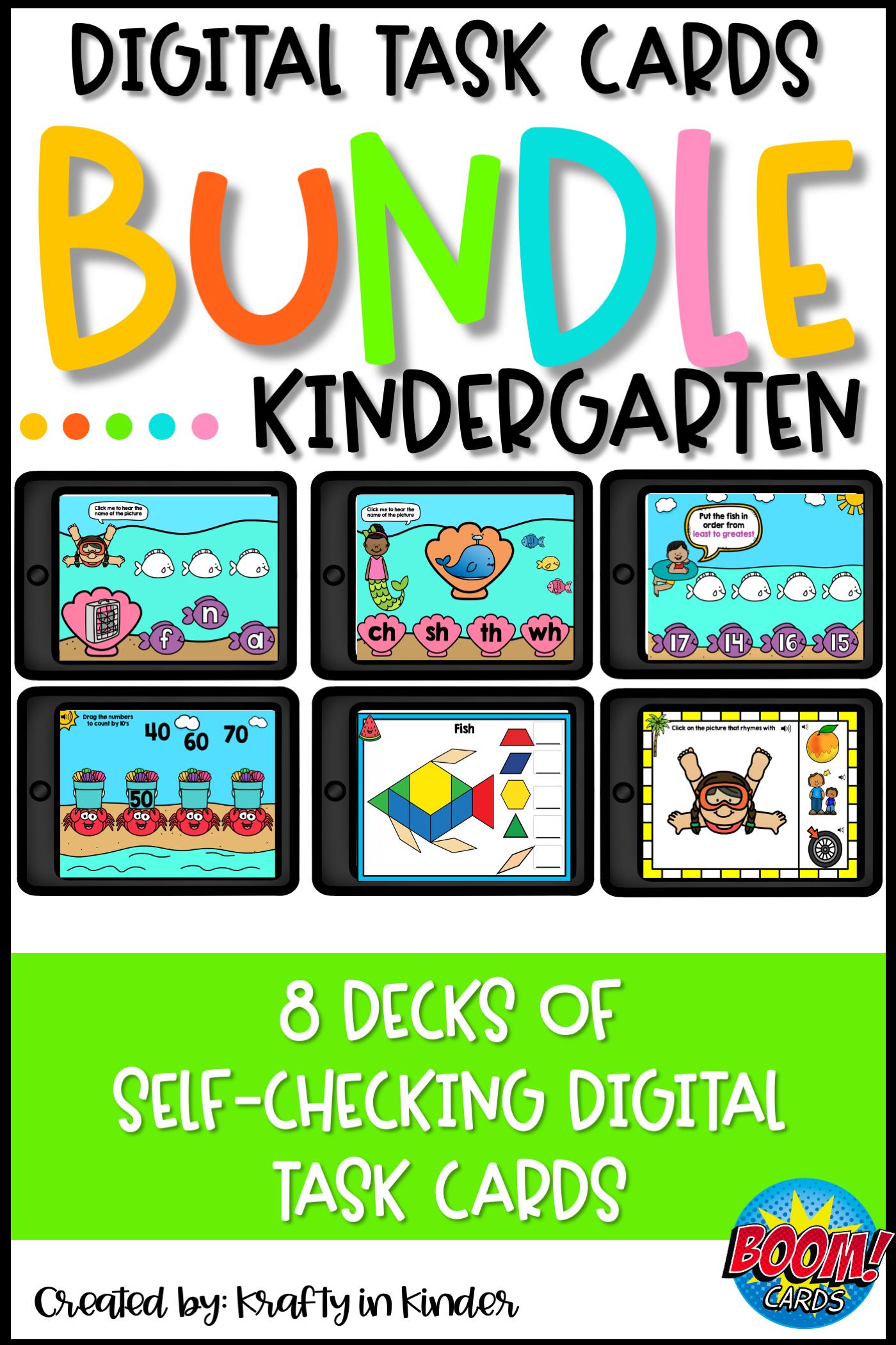 Kindergarten Boom Cards In