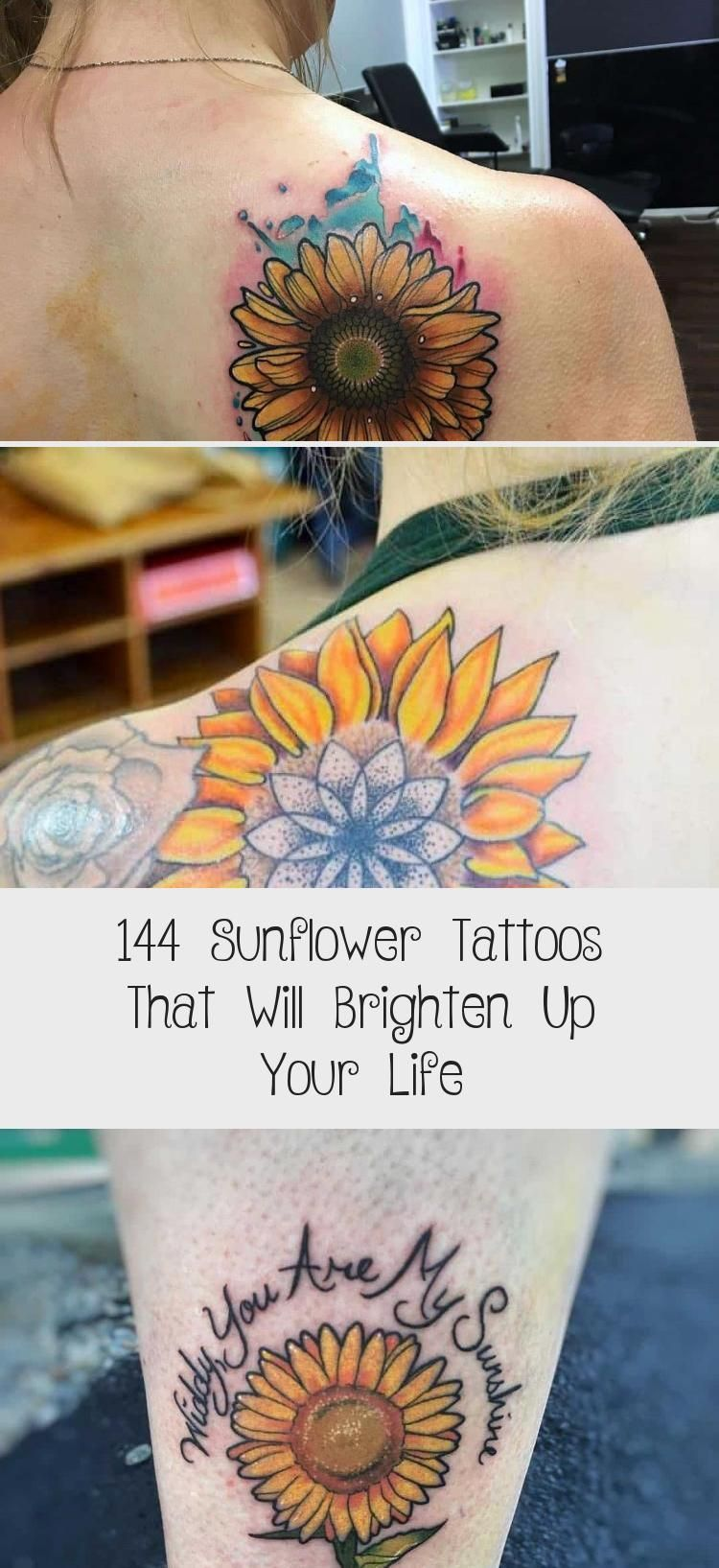 Photo of 144 Sunflower Tattoos That Will Brighten Up Your Life #sunflowertattoosDrawing #…