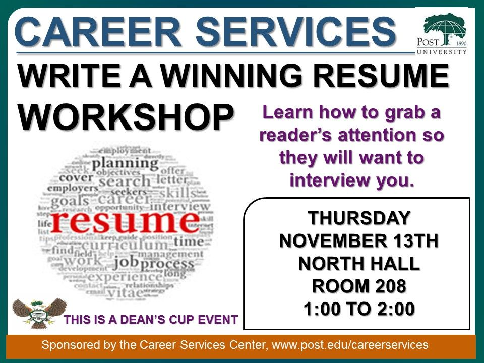 Come hear Debra Manente speak about resume tips that can help you