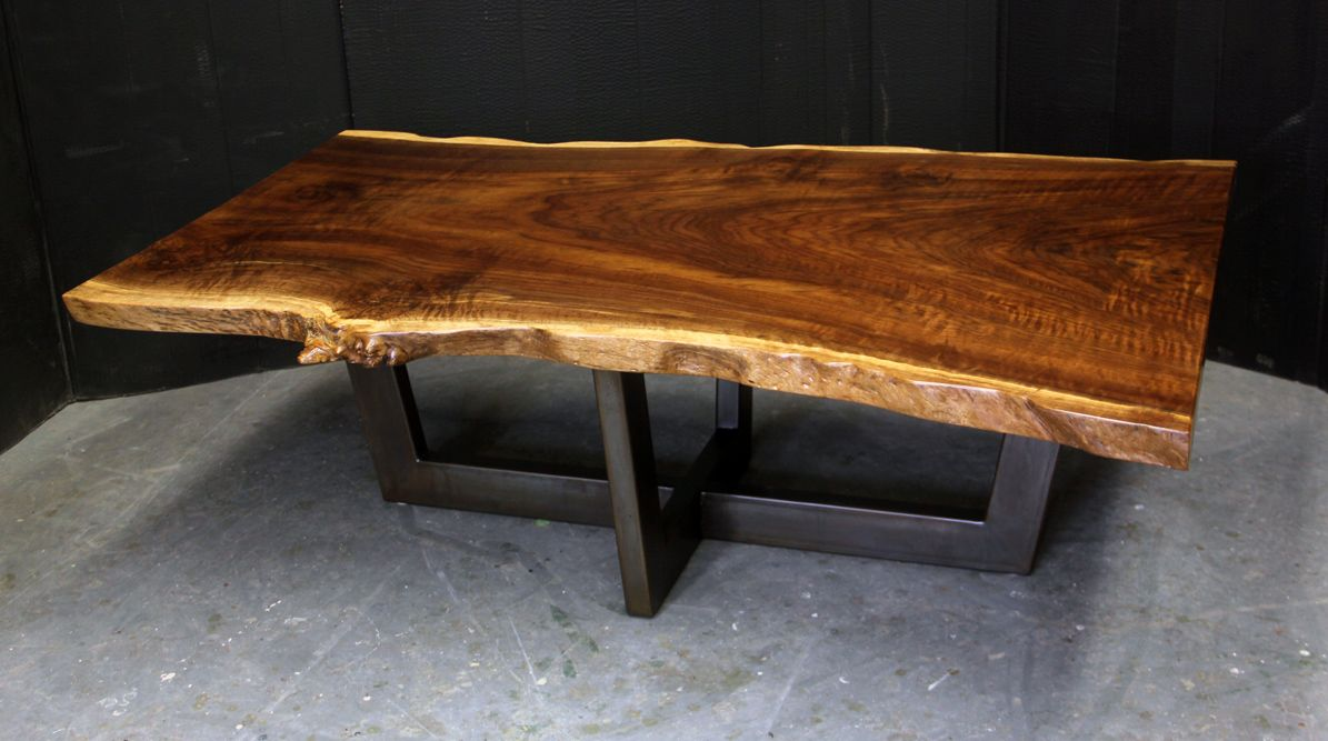 Redwood Painted Steel Coffee Table Dorset Custom Furniture Vt Coffee Table Live Edge Dining Table Coffee Table Wood [ 667 x 1195 Pixel ]