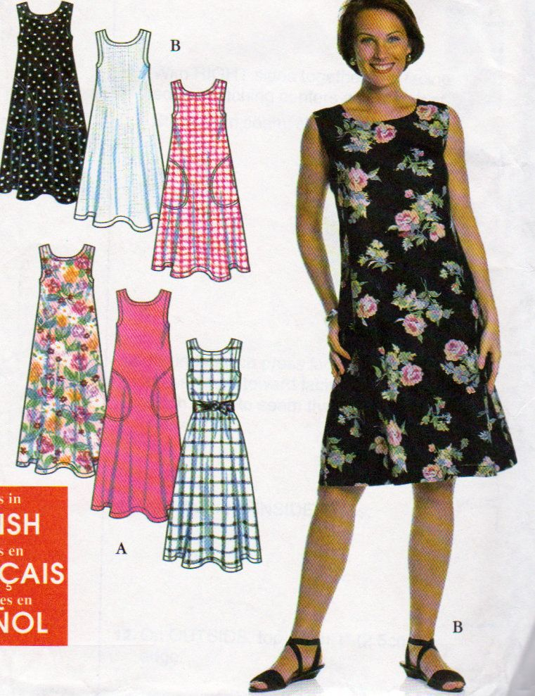 Simplicity 7541 Misses Dress or Jumper Sewing Pattern, Sizes 6 to 24 ...