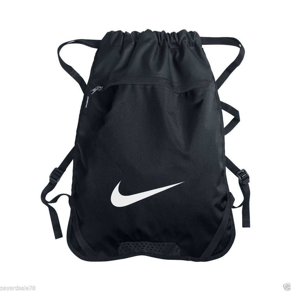 35a2a464d120 NIKE BLACK GYM SACK BACK PACK BACKPACK BOOK BAG GYM TRAVEL SPORTS  Nike   gymsack