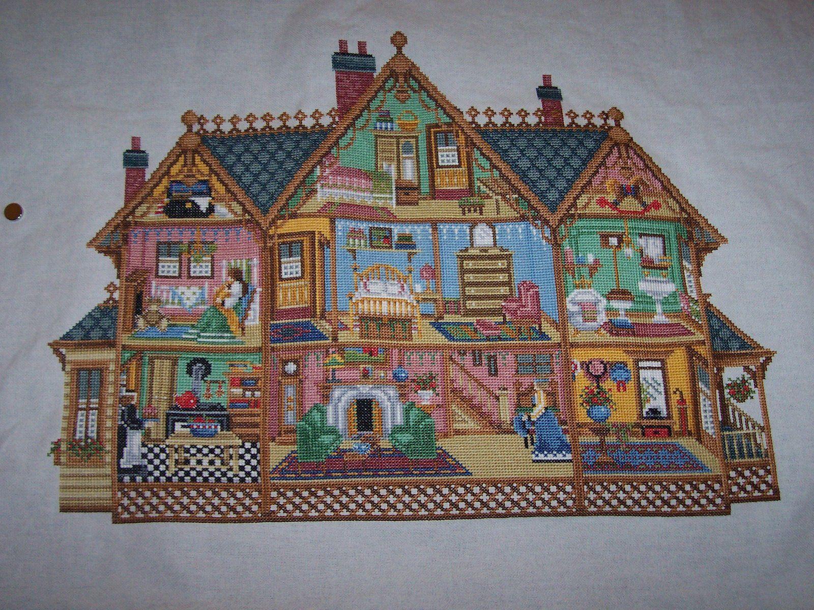 Just Cross Stitch Patterns Free | Kathy\'s Stitching Blog: Dollhouse ...