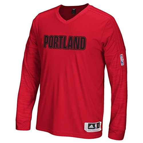 Portland Trail Blazers Adidas 2015 NBA OnCourt Authentic LS Shooting Shirt      Visit the image link more details. 6058e0f9b