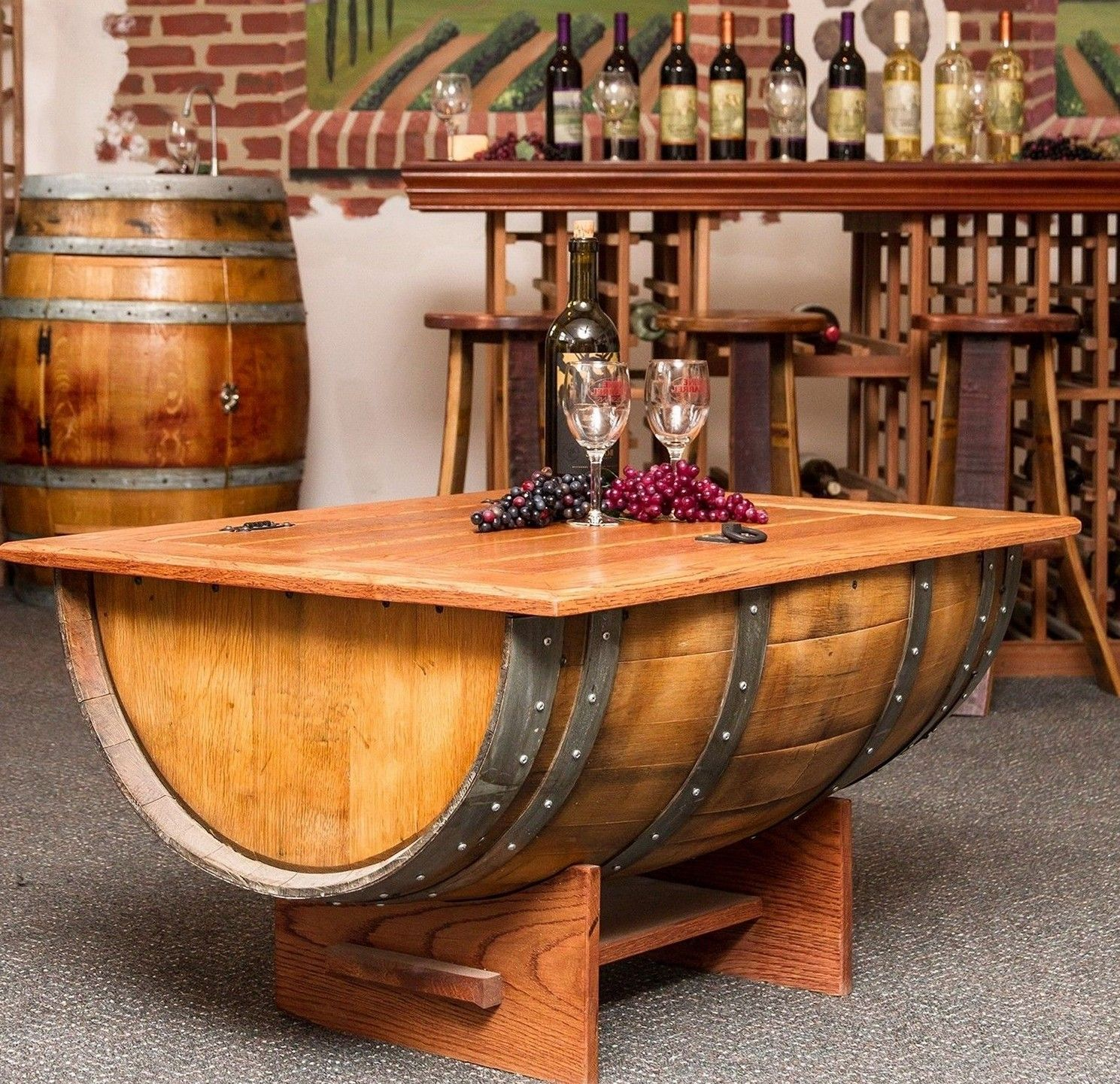 Marvelous Awesome Wine Barrel Coffee Table | Gorgeous DIY Wine Barrel Coffee Table  (with Pictures)
