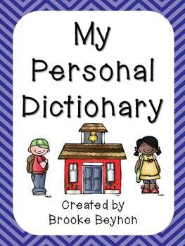 Personal Dictionary - Printable | Literacy: Vocabulary | Personal ...