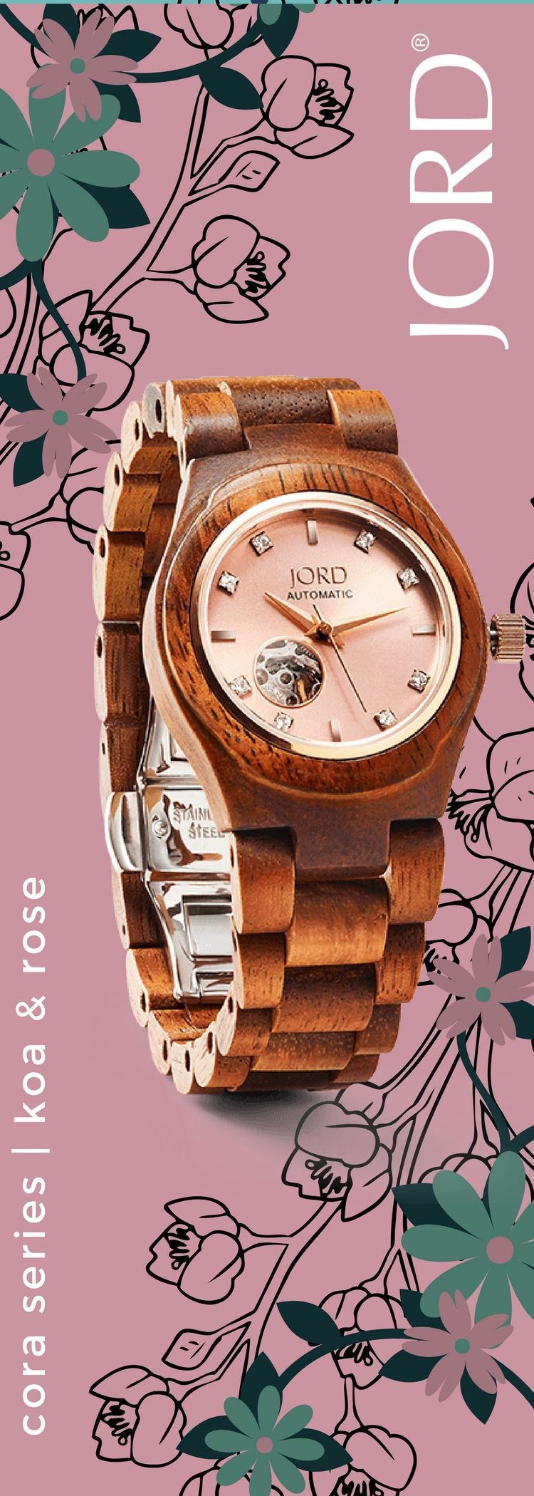 What S Not To Love This Valentine S Day Jord S Line Of Women S Watches Has Exactly What Your Wrist H Wooden Watches Women Best Watches For Men Womens Watches