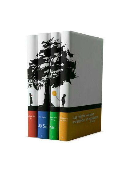 J.D. Salinger Tree Design (Set of 4) by Juniper Books LLC ...