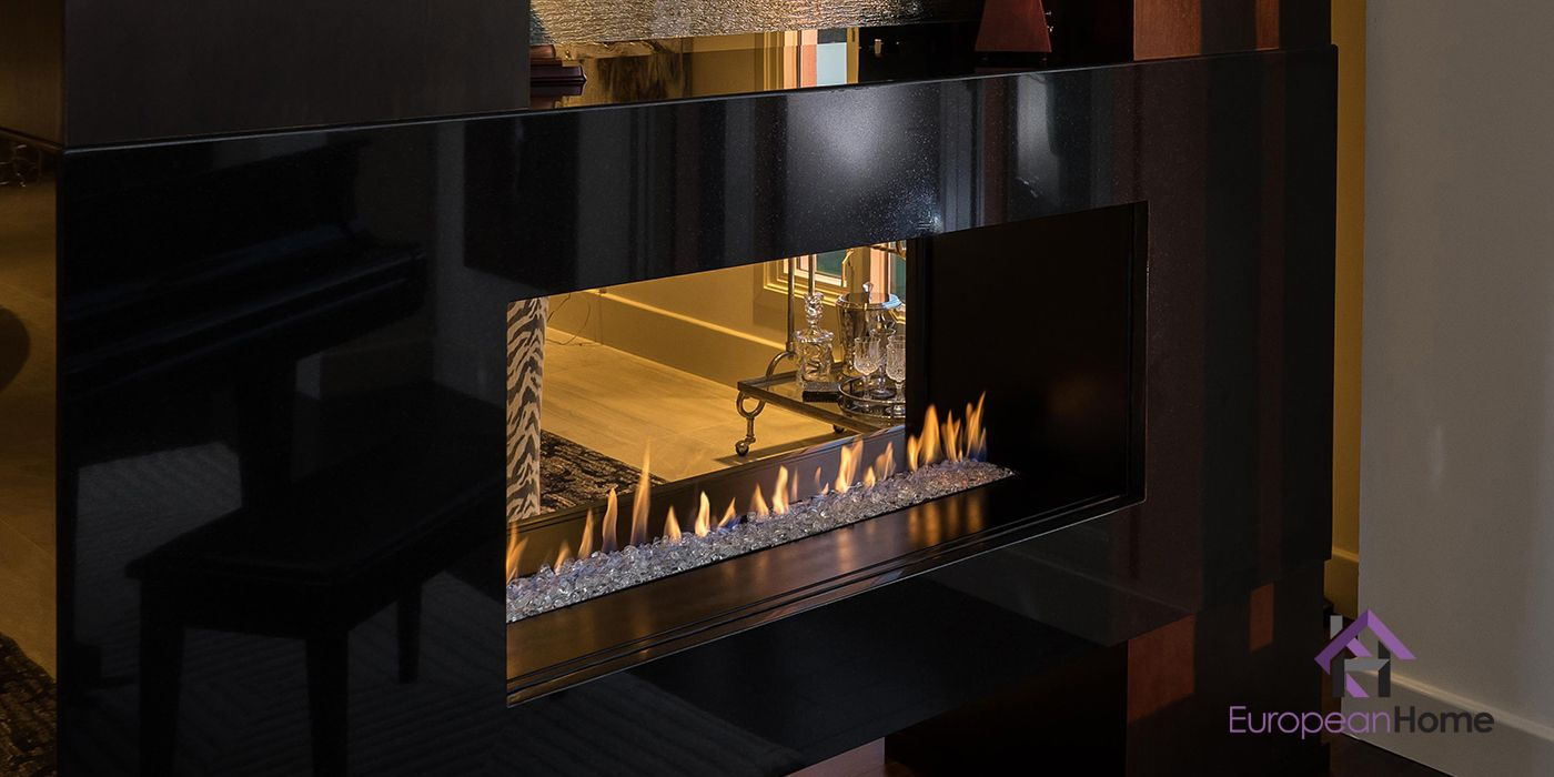 H Series Vent Free See Through Fireplace By European Home Moderndesign Interiordesign Fireplace Modernfireplace C Gas Fireplace Fireplace Linear Fireplace