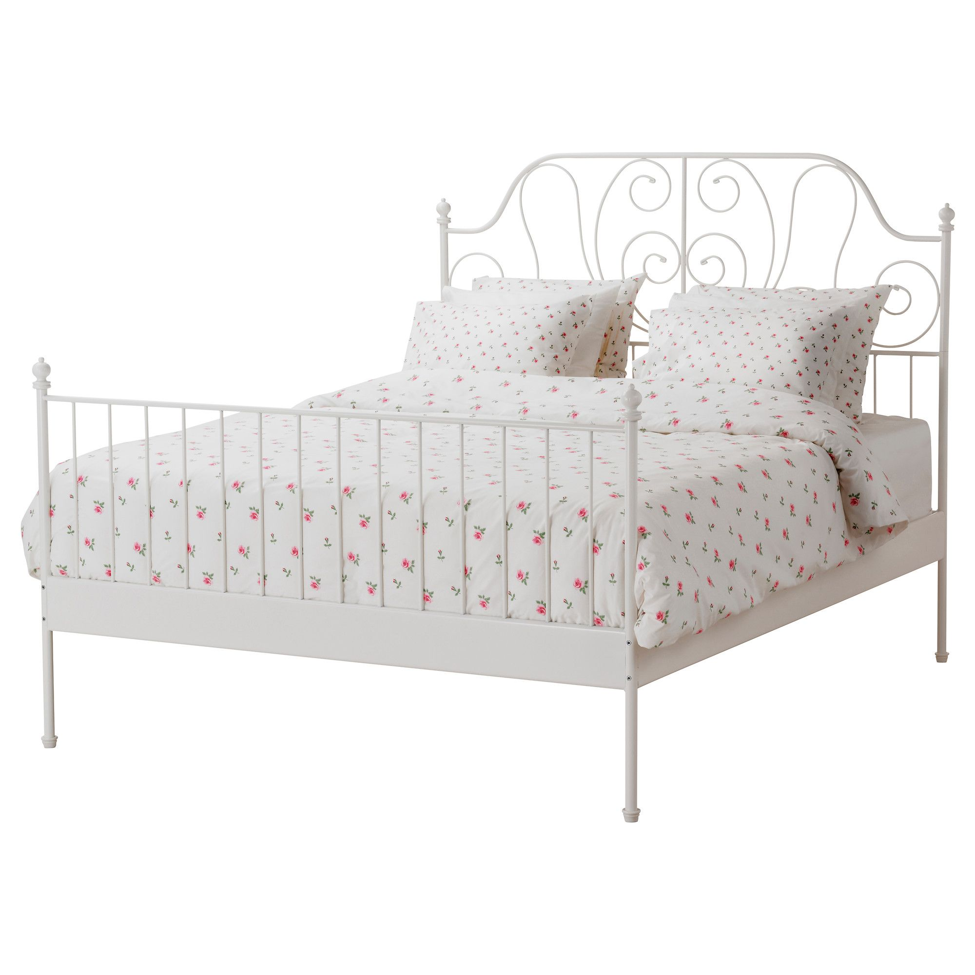 An affordable alternative to an antique iron bed frame? LEIRVIK Bed ...