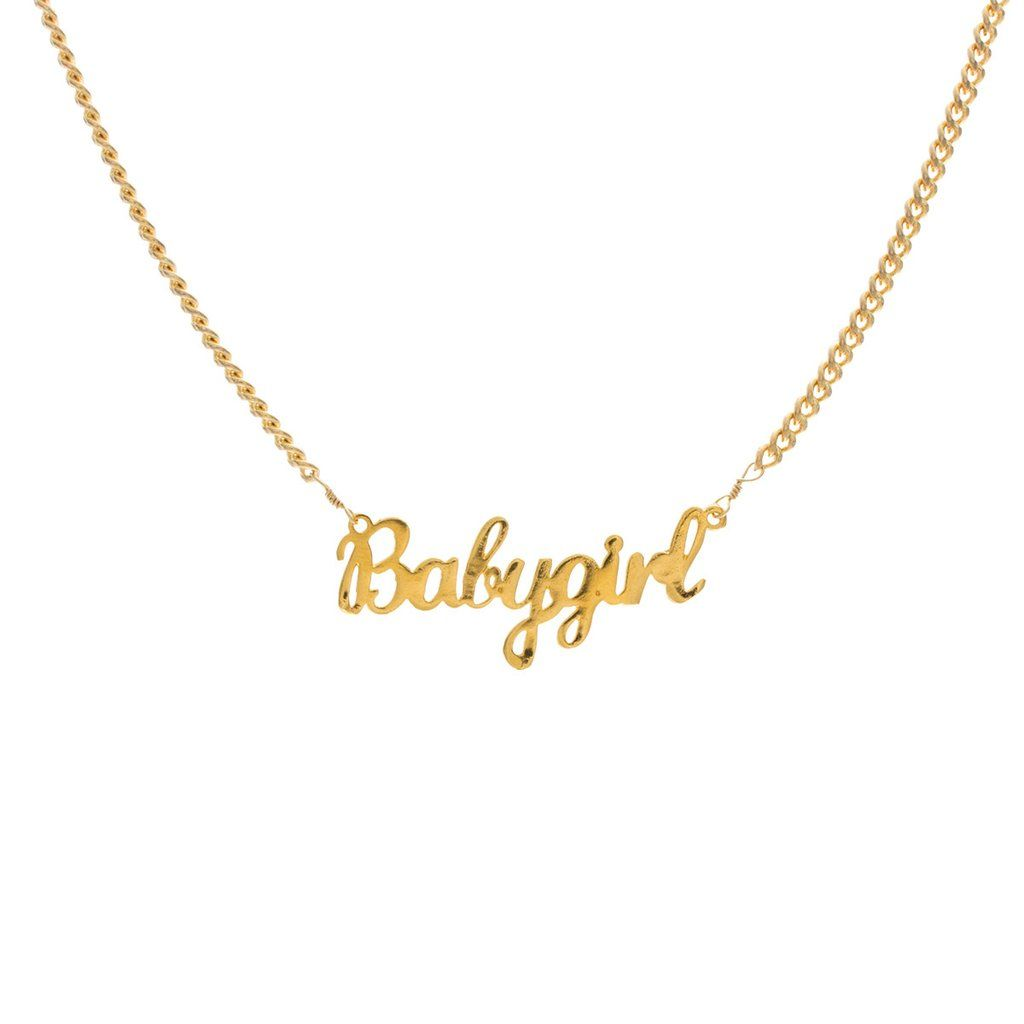 2ead7a6f524eb Babygirl Nameplate Necklace in 2019 | The Last New Yorker Mood Board ...