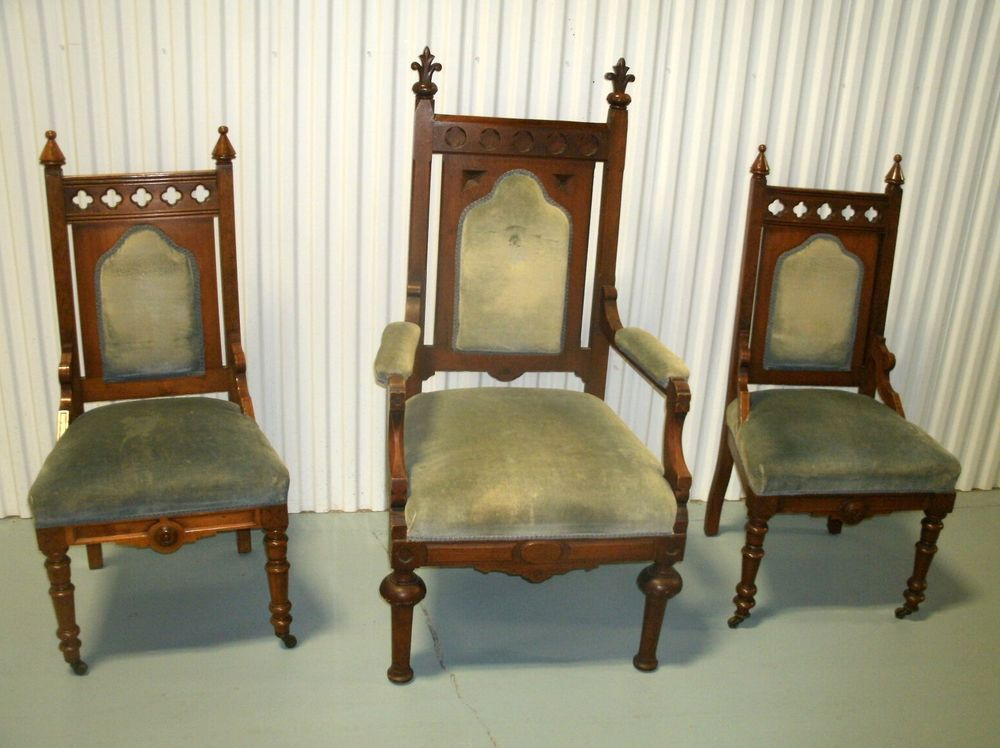 Antique Gothic Pulpit Chairs Chair Antiques Dining Chairs