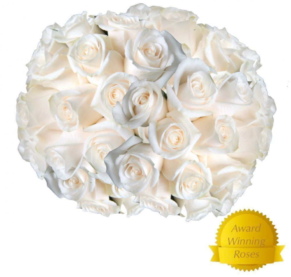 Flowers For Delivery On Amazon Bouquet Of 25 White Fresh Roses
