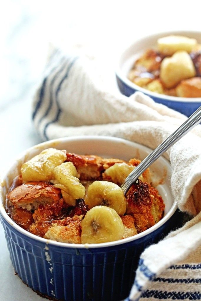 Decadent Bananas Fosters Bread Pudding