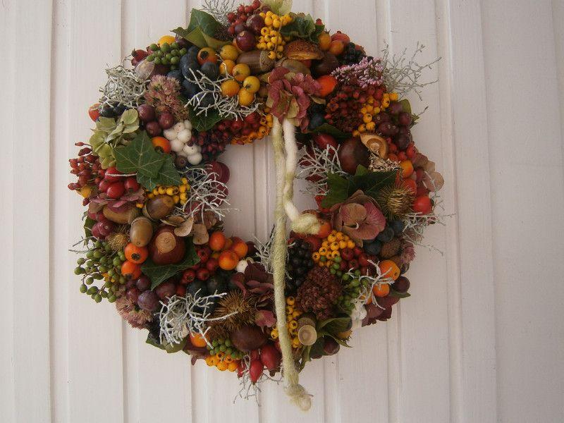 Herbstkranz-Türkranz nur noch bis zum 19.Oktober von kreatives auf DaWanda.com
