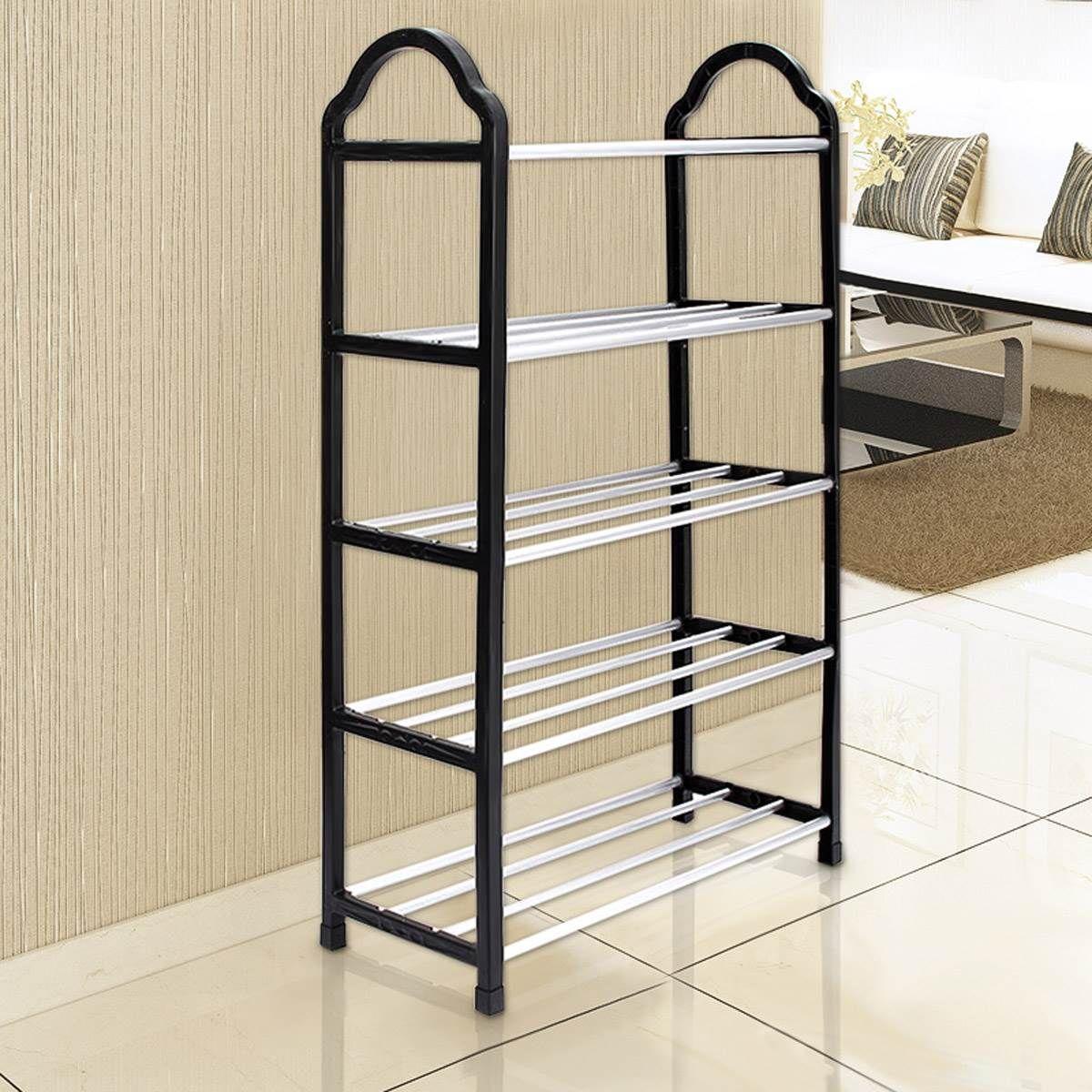 Shoe Tower Rack 5 Tier Portable Excellent Quality Luxury Aluminum ...