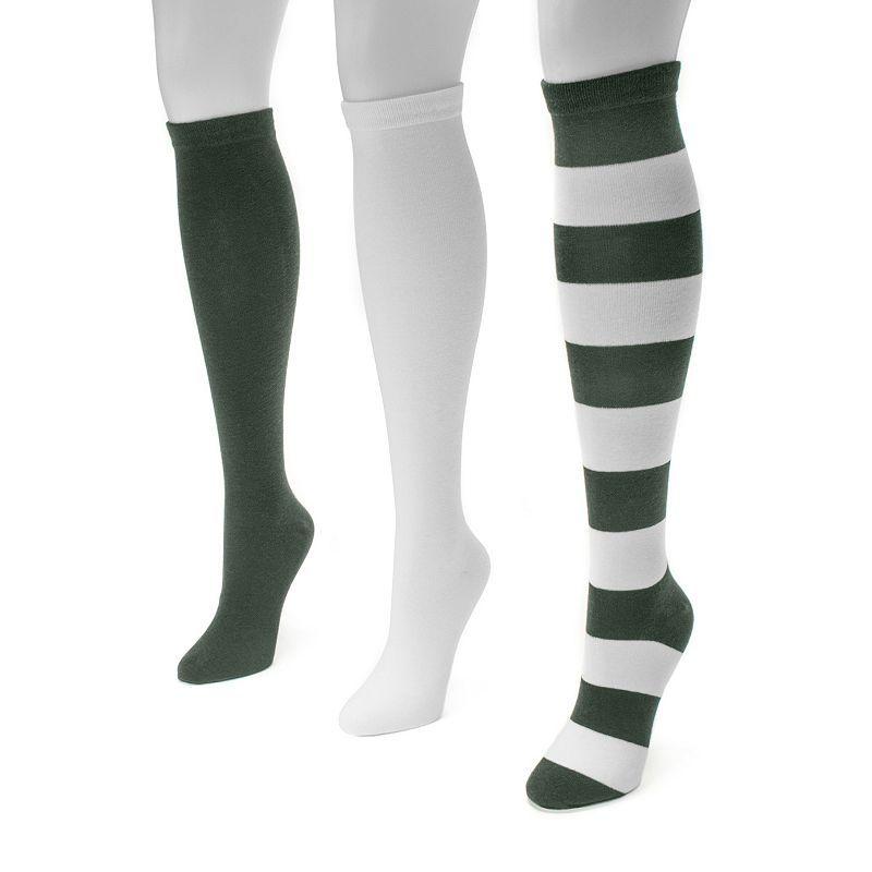 Girls Knee High Socks Navy White Grey Black Sock